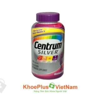 Viên Uống CENTRUM SILVER WOMEN'S 50 – Bổ Sung Vitamin Và Khoáng Chất Thiết Yếu