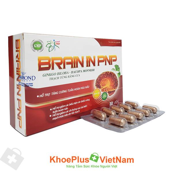 Viên uống Brain In PNP - hỗ trợ tăng cường tuần hoàn máu não
